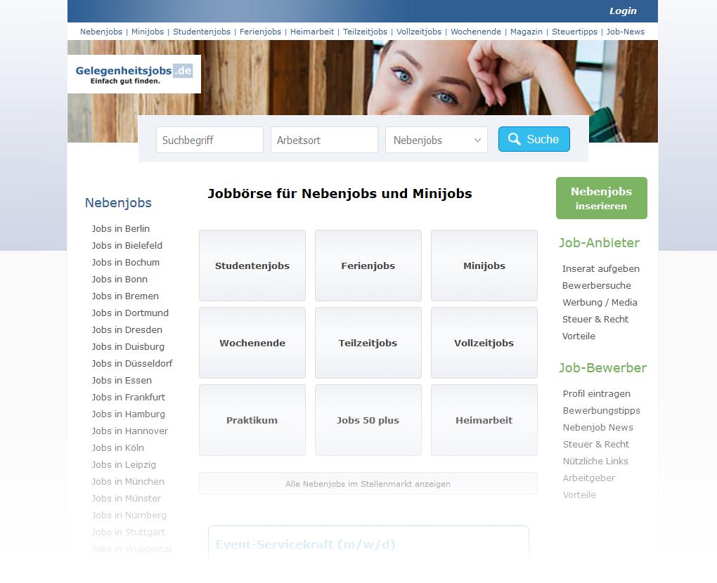 Mediaplant Referenz: Gelegenheitsjobs.de 1