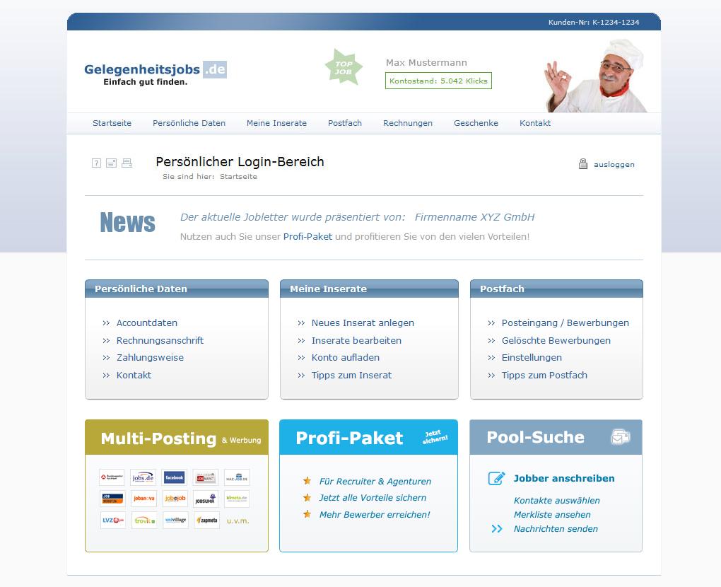Mediaplant Referenz: Gelegenheitsjobs.de 2