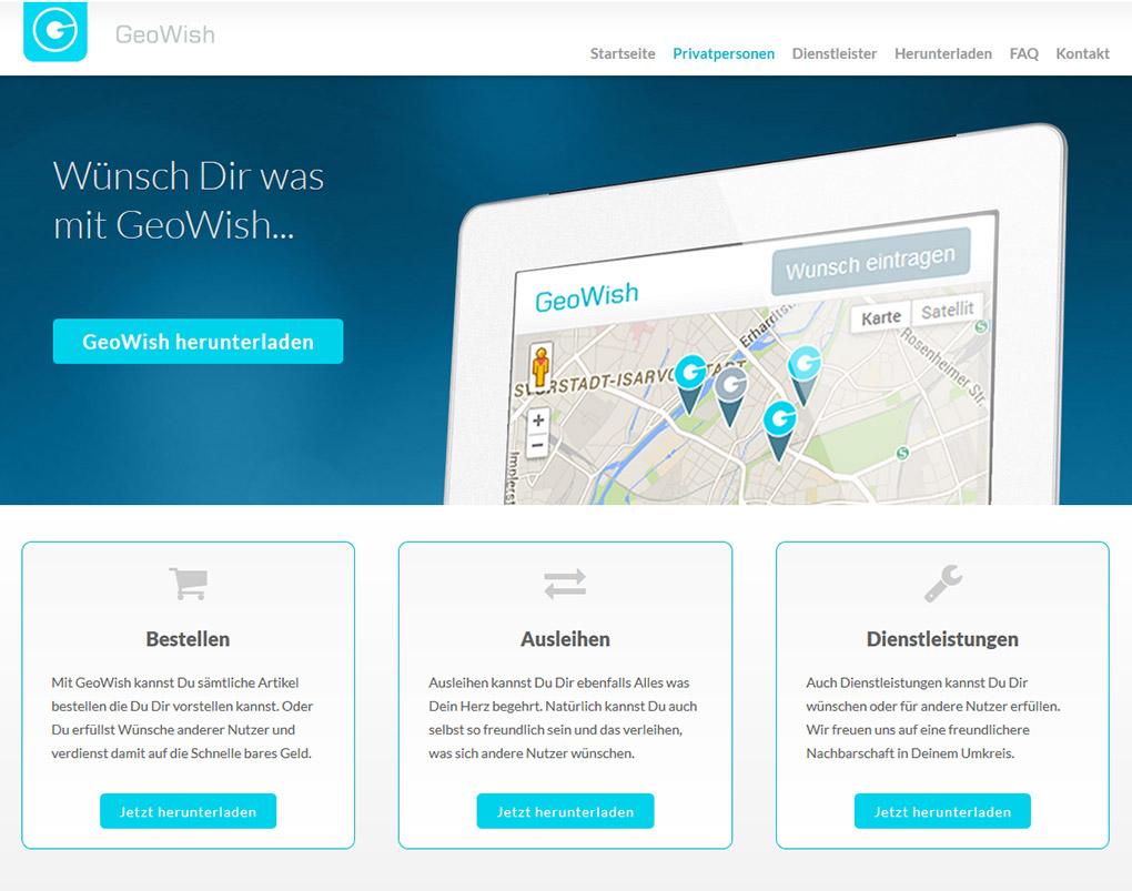 Medieplant Referenz: GeoWish App 2