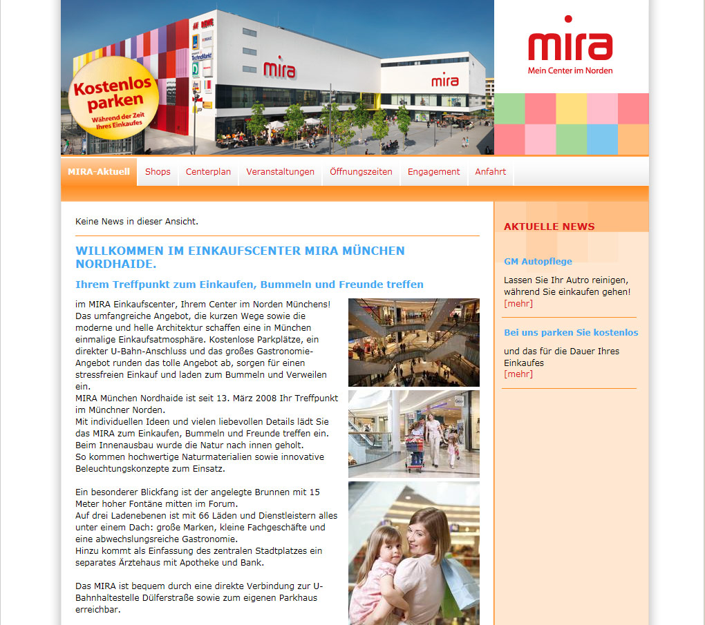 Mediaplant Referenz: MIRA-Center 1