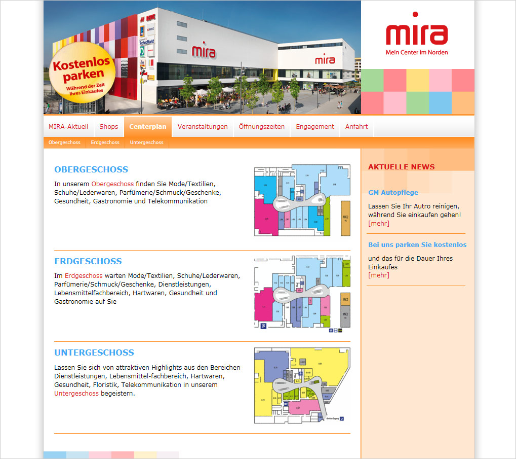 Mediaplant Referenz: MIRA-Center 2