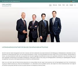 Mediaplant Referenz: Orlando Management AG 1