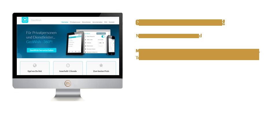 Mediaplant GmbH: GeoWish App - Neue App für iOS und Android; Mediaplant: Eigenentwicklung, Konzeption, Umsetzung, Testing, Hosting, Multimedia, Vertrieb, Kooperationen