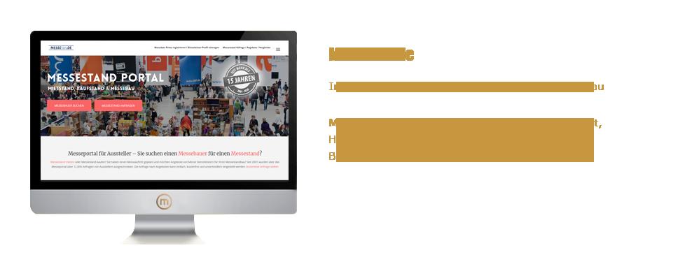 Mediaplant GmbH: Messe1x1.de - Internationales Ausschreibungs-Portal für Messebau; Mediaplant: Konzeption, Programmierung, Layout, Hosting, SEO, SEA, Newsletter, Kundenbetreuung, Buchhaltung, Abwicklung, Kooperationen
