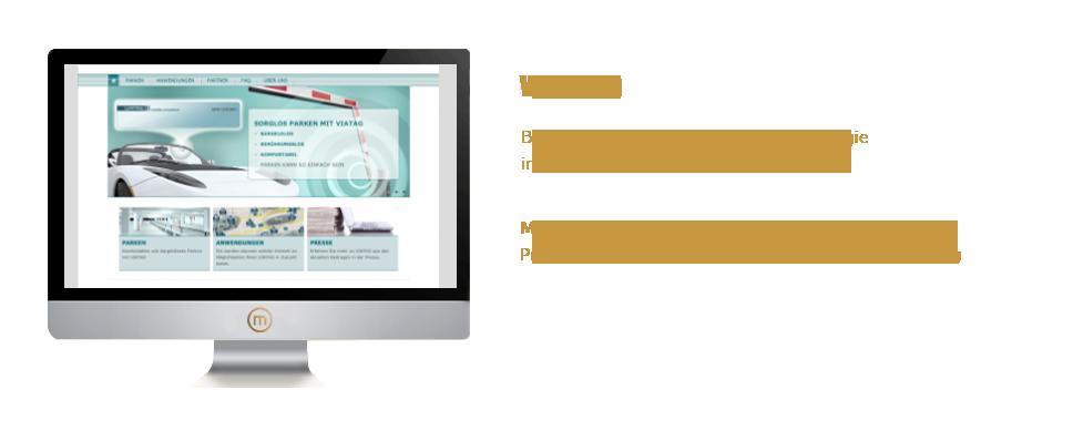 Mediaplant GmbH: Viatag.eu - Bargeldlos parken und mit RFDI-Technologie in eine bequeme Zukunft starten; Mediaplant: 3D-Film, Storyboeard, Website, Layout, Programmierung, Schnittstellenanbindung, Schulung
